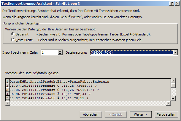 Datenimport, diverse Formate | Excel ist sexy!
